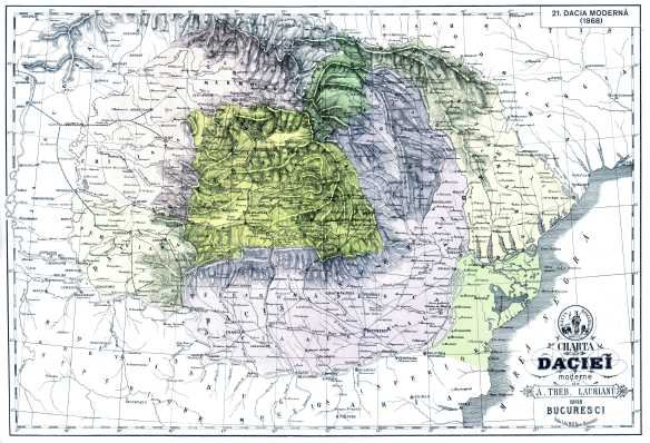 Harta Daciei Moderne - Romania