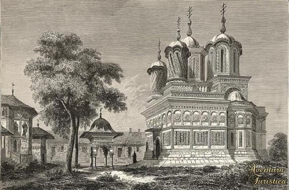 Curtea_de_Arges_-_Manastirea_inaintea_restaurarii_din_1875-1886