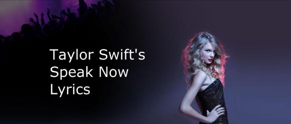taylor swift song lyrics speak now